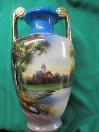 Noritake Vases Value Nippon Landscape Vases Collection On Ebay