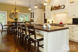 kitchen island with bar kitchen island bar ideas with grothouse wood surfaces