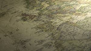 Vintage Map Pan Across To The Indian Ocean On A Vintage Map Free Stock Video
