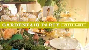 Diy Fairy Garden Ideas by Diy Fairy Garden Party Ideas Place Cards And Party Favors Youtube