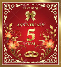 year wedding anniversary 5 year wedding anniversary on a background royalty free