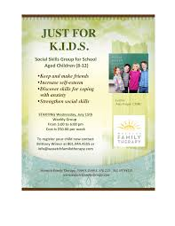 kids social skills group wasatch family therapy cottonwood
