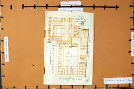 19 print 1909 map italy plan basilica marco palazzo ducale