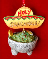 mexican food guacamole heaven ornament personalized