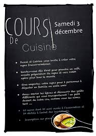 affiche atelier cuisine cosy restaurant nantes affiche cours de cuisine