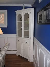 corner media units living room furniture furniture wonderful white refinished corner cabinet for crafts