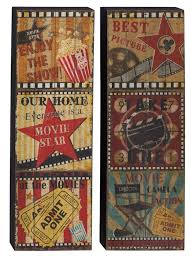 Vintage Reproduction Home Decor by Home Theater Movie Cinema Snack Bar Home Decor Rec Room Popcorn