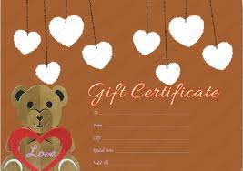 printable teddy bear gift certificate template