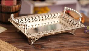 wedding serving trays metal rectangle serving tray storage tray plate bandeja decorativa