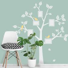 family tree decals kids wall decals nursery simple modern family tree picture frames wall decal