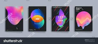 liquid color covers set fluid shapes stock vector 629398316