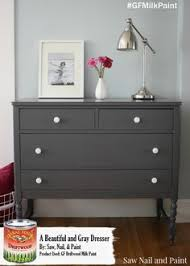 charcoal gray dresser with a sweet little note general finishes