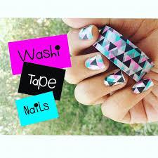 diy washi tape nails youtube