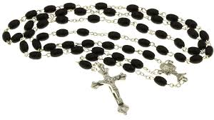rosary store 10 black wood bead chrome rosary 10 praying booklets immaculee