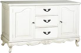 White Sideboard With Glass Doors Decorate Antique White Sideboard