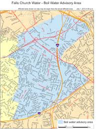 fairfax county map view map of boil water advisory area fairfax county emergency