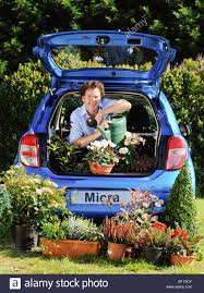 nissan micra new launch television presenter and gardener diarmuid gavin uk launch of