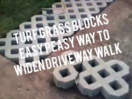Home Depot Concrete Patio Blocks by How To Install Turf Grass Block Paving Stones For Driveway