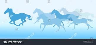 silhouette horses running background stock vector 704559133