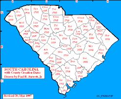south carolina modern period maps