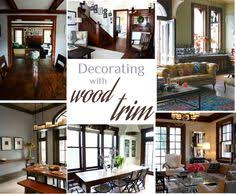 the best neutral paint colours to update dark wood trim modern
