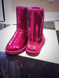 ugg sale pink factoryss on pink sequin pink and boot