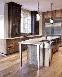 reclaimed barn wood kitchen island with wooden top 99 best reclaimed wood kitchen cabinets images on pinterest intended
