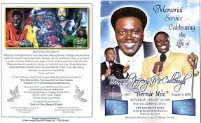images of funeral programs bernie mac s funeral program famousdead
