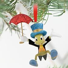 disney jiminy cricket with umbrella ornament new