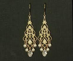 pearl chandelier earrings gold chandelier bridal earrings pearl chandelier earrings