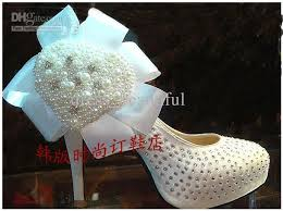 wedding shoes canada white pearl wedding shoes banquet stage shoes shoes pearl