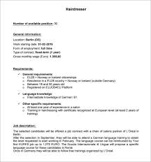 resume examples for hairstylist sales associate resume sample