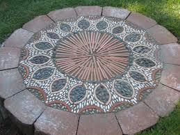 How To Cut Patio Pavers 674 Best Garden Pebble Mosaics Images On Pinterest Pebble Mosaic