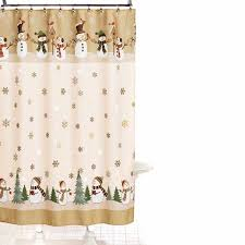 Snowflake Curtains Christmas Christmas Shower Curtain Canada Shower Curtain Rod