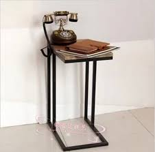 Iron Side Table American Iron Bedroom Bedside Cabinet Telephone Stand Shelf