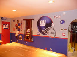 n y giants theme game room painting the hubby u0027s man cave these