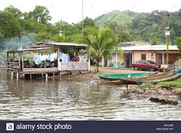 House Over Water Village And Bay Scene In Portobelo Panama With House Over Water
