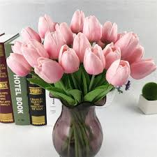 wholesale economic unfading real touch artificial flower pu tulip