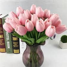 decoration flowers wholesale economic unfading real touch artificial flower pu tulip