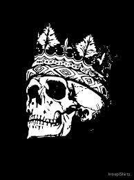 cool king skull with crown graphic t shirt by intrepishirts