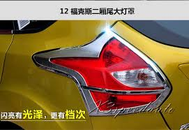 2014 ford focus tail light free shipping chromed rear tail light cover trim for ford focus