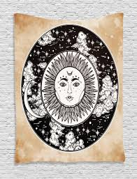 tribal tapestry wall hanging ethnic sun face moon home decor ebay