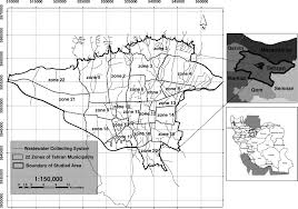 Tehran Map Developing Strategies For Urban Flood Management Of Tehran City