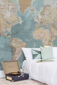 Map Wallpaper Best 25 Map Bedroom Ideas On Pinterest World Map Wall Room