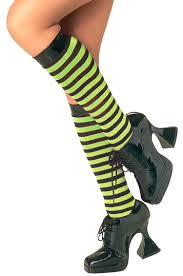 green and purple striped witch child costume black and green striped knee highs costume craze