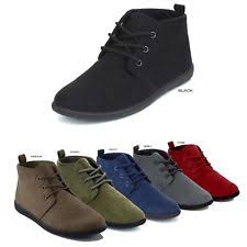 womens boots for flat lace up ankle boots ebay