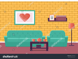 living room interior flat vector background stock vector 569346535