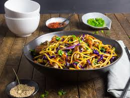stir fried lo mein noodles with pork and vegetables recipe