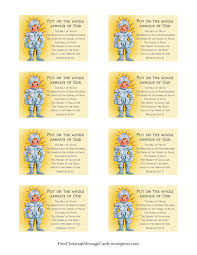 free printable christian message cards u2013 armour of god free