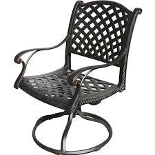 darlee nassau cast aluminum patio swivel rocker dining chair
